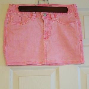 Guess Mini Jean Pink Skirt